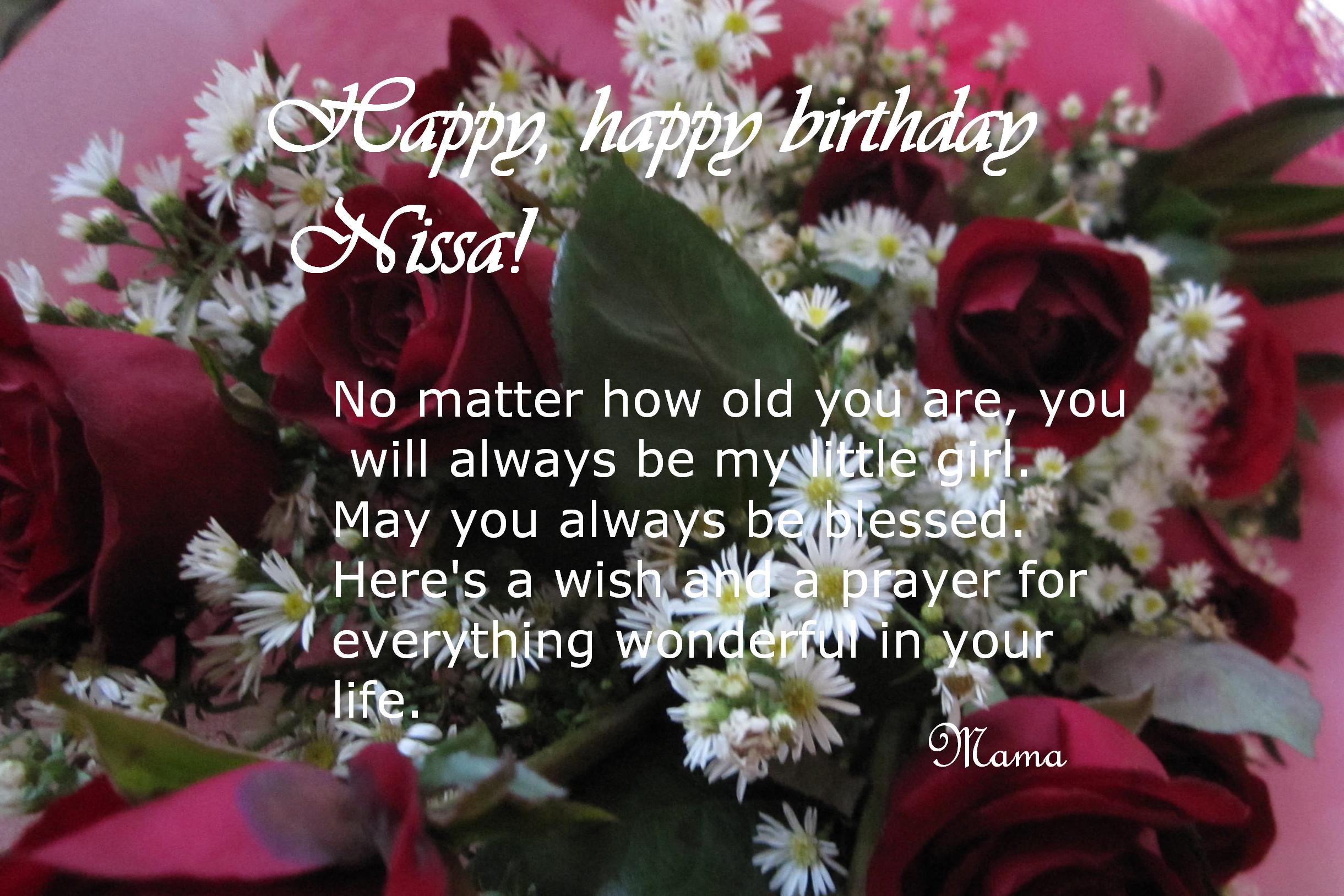 Happy Birthday Nissa Dreams And Escapes