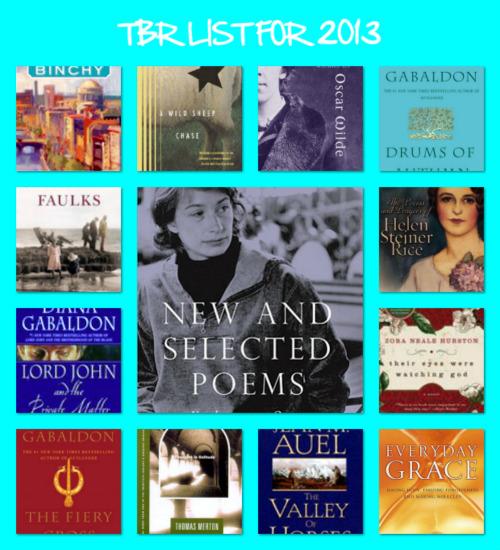 tbr list for 2013