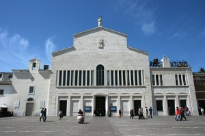 Church of Santa Maria della Grazie, containing Padre Pio's tomb and cell.  (Photo credit: sacreddestinations.com)