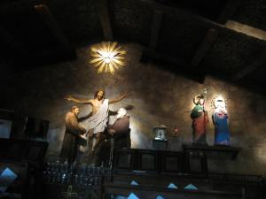 The prayer room of St. Francis of Assisi.