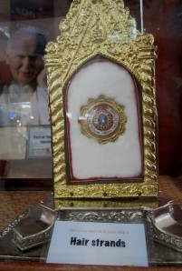 Another first class relic - strands of hair of JP II. ©Dreams and Escapes