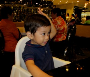 Busog na baby? Our little man!