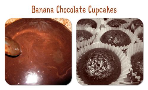 banana choco cupcakes