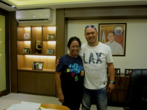 With Atty. Kit Nieto , Mayor of Cainta, Rizal