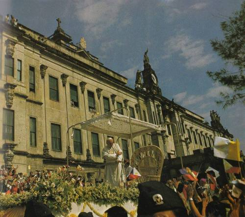UST Papal Visit 1981. It was the first time Pope John Paul II visited UST. (Photo credit: UST FB page)