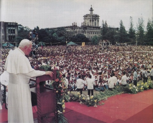 UST Papal Visit 1995 during the  the celebration of World Youth Day held in the Philippines.