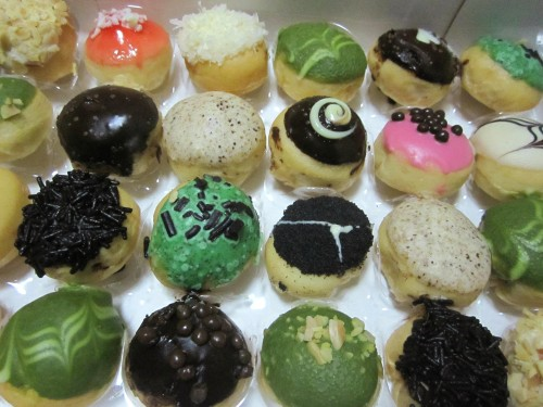 J.Pops baby donuts. They're quite expensive but people line up in their outlets to buy donuts or fat free frozen yogurt.