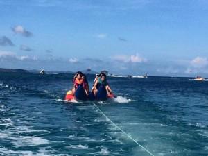 Banana boat ride...